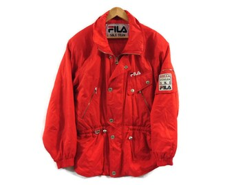 Vintage 90s FILA Ski Jacket - Womens - Large - Fila Italia - Biella Italia Ski - Snowboarding Jacket - Retro Clothing - Vintage - Red Winter
