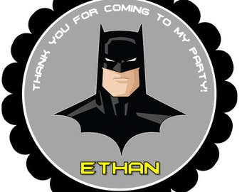 Printable Batman Thank You Tags, Batman Favor Tags, Batman Gift Tags, Batman Party, Batman Birthday, Superhero, Justice League, Batman
