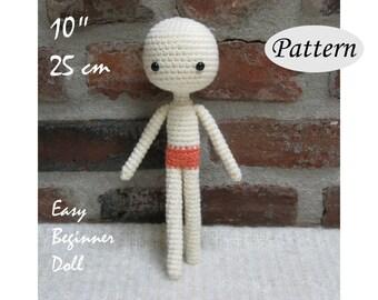 """BASIC Amigurumi Body - Amigurumi Pattern Crochet Doll Pattern - 10""""/25cm - Body Base - Tutorial - PDF"""