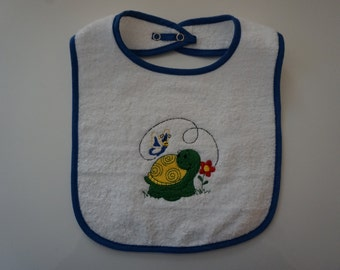 Turtle and the Butterfly Baby Bib
