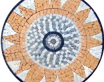 Mosaic Garden Art Medallion - Sunshine