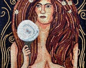 Nuda Veritas by  Gustav Klimt Reproduction Marble Mosaic