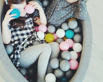 ball pit  ball pits light grey ball pit  bällebad   ballpit  baby ball pit  foam ball pit  pool with balls  dry pool balls  play room decor