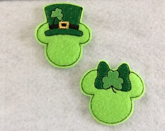 Irish Mouse , Girl and Boy Two Colors  Always Precut