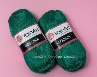 Yarnart begonia yarn, 100% mercerized cotton yarn, knitting, crochet, Yarnart Begonia, Turkish yarn, col. 6334