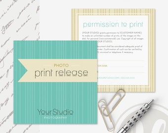 Photography Print Release Form - Instant Download, Photoshop Template for Photographers, Print Release Template, Photography Forms