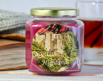 Scottish Highlands Jar Candle – 8 oz. ParaSoy Container Candle – Enchanted Series – Category 5 Original Blend