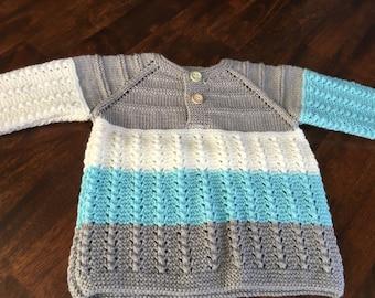 Multi-color handmade baby sweater