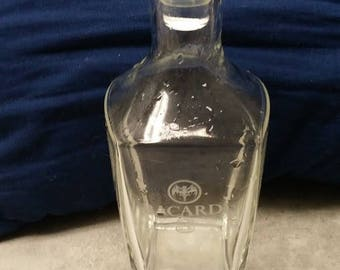 Rare Vintage BACARDI 8 Year Old Rum Glass DECANTER/JUG