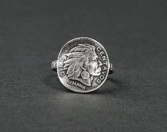 Ring Colombiana / ring and coin silver / Indian