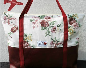 Flowers zippered XXL Bag / Maxi Bolso flores cremallera