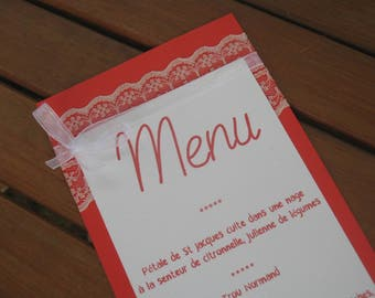 Menu variety: Red passion wedding |