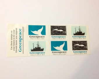 Greenpeace Stamps, 1980s set of 6
