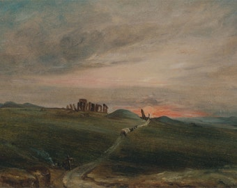 John Constable: Stonehenge at Sunset. Fine Art Print/Poster. (004124)