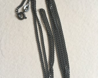 Sterling Silver 925 Oxidised Chains
