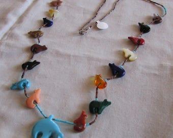 Colorful Bear Fetish Necklace
