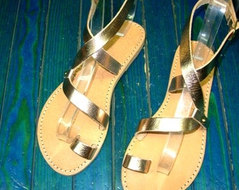 Purchase 2 Pairs at everything of GREEK Sandals - 10% OFF. Rose Gold Sandals, Gold Leather Sandals, Womens Sandals, Strap Sandals.