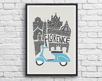 Art-Poster 50 x 70 cm - Florence - Italy