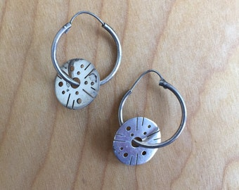Sterling hoop earrings -- 331