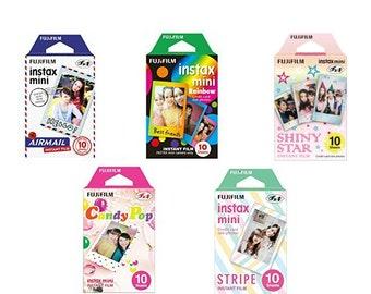 Color Fujifilm Instax Mini Film Instant Photos