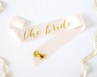 The Bride Bachelorette Sash in Font #1 - Bachelorette Sash - Bachelorette Party - Bride Gift - Bride Sash - Bridal Shower Sash - Bridal Gift
