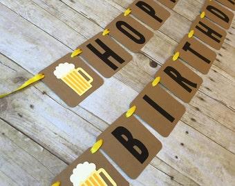 Hoppy Birthday Banner