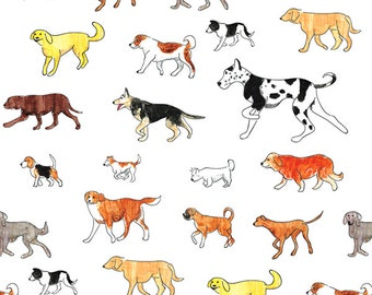 Dogs, Dogs, Dogs Tissue Paper # 310 ..10 large sheets - Many Different Breeds