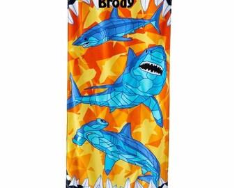 Sharks Beach Towel Personalized Beach Towel