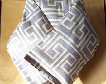 Navy Blue Geometric Heating Pad - Removable Inserts