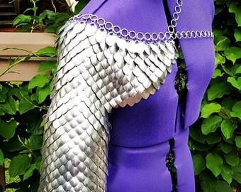 custom Scale mail shoulder/eblow armor