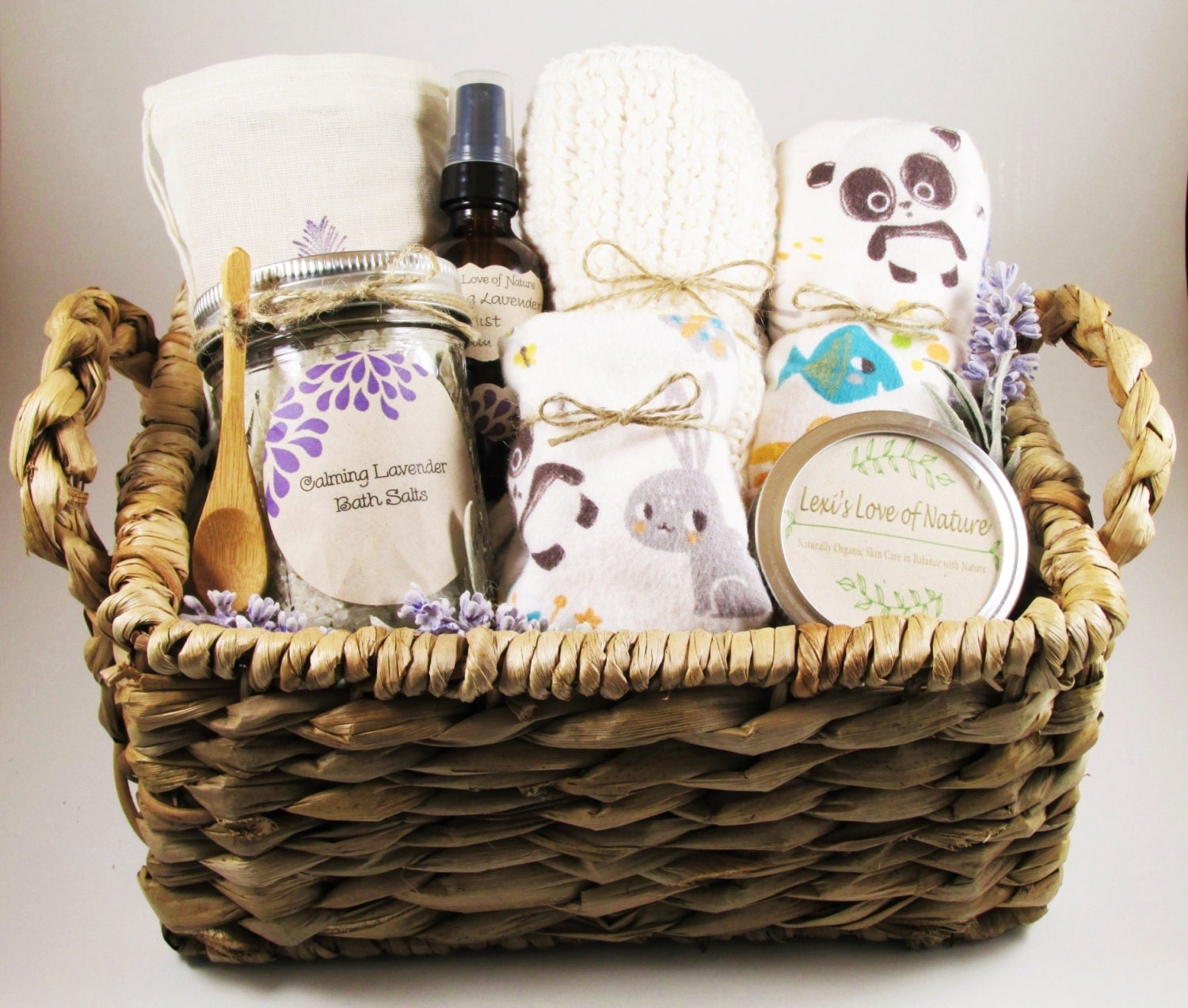 Mother And Baby Gift Hamper : Gift for new mom and baby basket