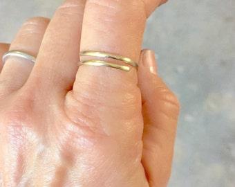 Gold ring 14k, gold thumb ring,gold stacking ring, gold rings, boho ring,gold jewelry,gold boho rings 14k gold, thumb rings