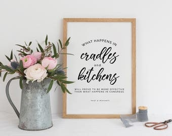 Family Quote | Cradles and Kitchens | LDS Quote | LDS Printable | Motherhood Quote |  Gallery Wall | Home Printable | Kitchen Printable
