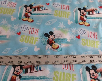 Mickey Mouse fabric by the yard - Live Love Surf