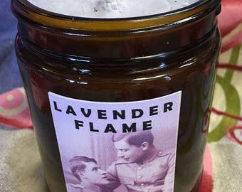 Lavender Flame Hoodoo Candle - male - gay love