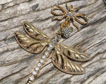 golden dragonfly | etsy