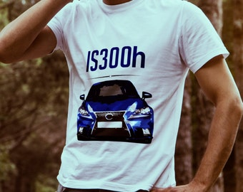 Lexus IS300h graphic T-shirt for Lexus Car Lovers - Personalisation available