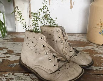 Vintage Children's Leather Boots