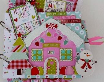 Holiday Hugs Mini Chipboard Album Kit