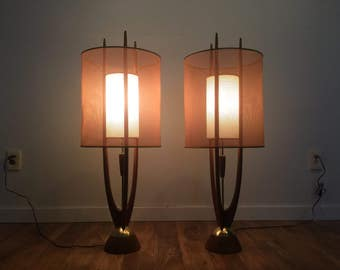Modeline Mid Century Table Lamps - Pair