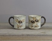 SALE Pair of vintage ceramic mugs | stoneware mugs | 1451