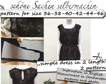 simple dress, size 36 - 46