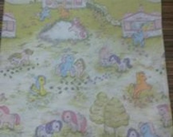 Rare Vintage My Little Pony Fabric