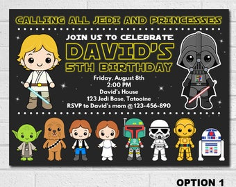 Star Wars invites, Star Wars Birthday