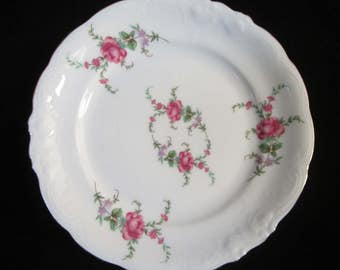 """Royal Kent Of Poland Bread/Butter Plate-pattern RKT3 or RKT23. Porcelain plate measures 7"""" wide, 21"""" circumference. Great replacement piece!"""
