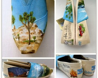 Bride's Love Story Wedding Shoes Wedding Flats Love Story Shoes Gift for Bride Custom Wedding Shoes Personalized Gift Wedding TOMS