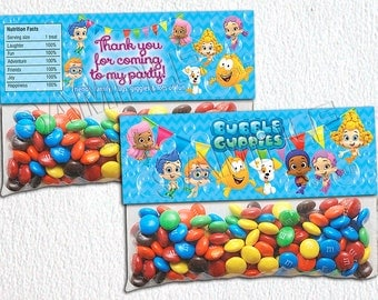 INSTANT DOWNLOAD only with payment in PayPal! Bubble Guppies Bag Toppers, Bubble Guppies Party, Printable