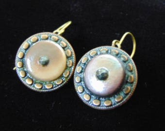 Women's Vintage Estate Victorian Button Earrings E1352