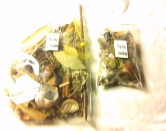 pagan/wiccan  spell mix for banishing. Its ingredeants are passed down to me . This banishing or protection is for  mojo bag .
