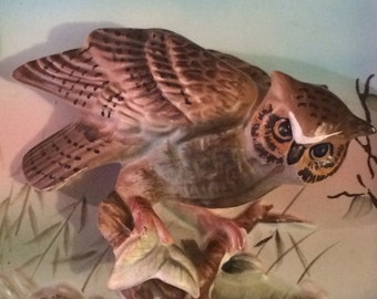 Horned Owl 3D Wall Plaque